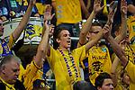 GER - Mannheim, Germany, September 23: During the DKB Handball Bundesliga match between Rhein-Neckar Loewen (yellow) and TVB 1898 Stuttgart (white) on September 23, 2015 at SAP Arena in Mannheim, Germany. (Photo by Dirk Markgraf / www.265-images.com) *** Local caption ***