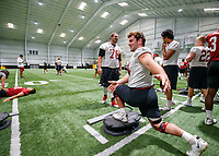 Orlando, FL - September  13, 2019:  Stanford Football practices at Nicholson Fieldhouse at UCF.