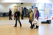 Being shown around the dance studio, Open Day at Kingston College when prospective students and their parents look around.