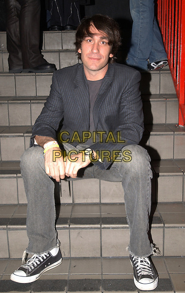 DJ BRENT BOLTHOUSE.Backstage at The Camp Freddy South East Asia Tsunami Relief Fund Benefit held at The Key Club in West Hollywood, California .*EXCLUSIVE* .January 27th, 2005.full length, sitting.www.capitalpictures.com.sales@capitalpictures.com.Supplied By Capital PIctures