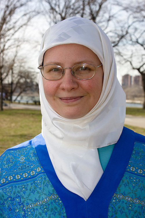 Rachel Harrell-Bilici, Astoria, grew up in Texas, identifies herself as a Muslim American