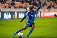 HOUSTON, TX - JANUARY 31: Roseline Eloissaint #11 of Haiti during a game between Haiti and Costa Rica at BBVA Stadium on January 31, 2020 in Houston, Texas.