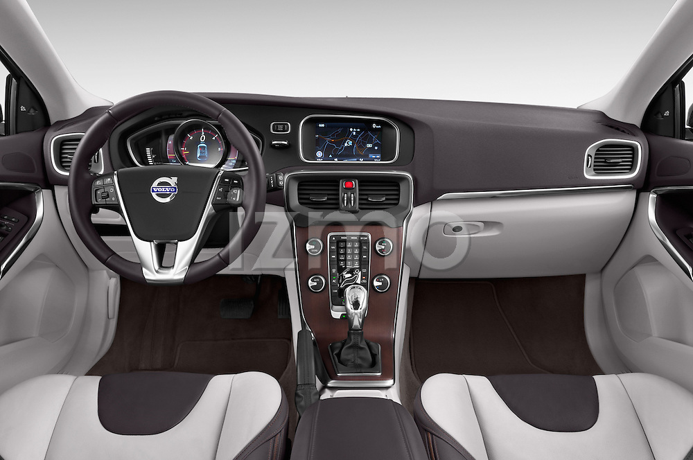Straight dashboard view of a 2013 Volvo V40 Cross Country Summum Hatchback