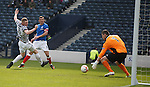 Lee McCulloch's shot is parried by keeper Neil Parry and the ball falls to Fraser Aird to score