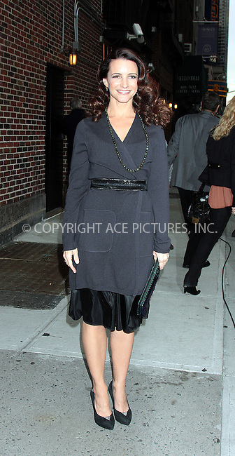 WWW.ACEPIXS.COM . . . . .  ....October 8 2009, New York City....Actress Kristin Davis made an appearance at the 'Late Show with David Letterman' on October 8 2009 in New York City....Please byline: AJ Sokalner - ACEPIXS.COM..... *** ***..Ace Pictures, Inc:  ..tel: (212) 243 8787..e-mail: info@acepixs.com..web: http://www.acepixs.com
