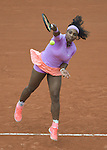 Serena Williams (USA) defeats Andrea Hlavackova (CZE) 6-3, 6-3 at  Roland Garros being played at Stade Roland Garros in Paris, France on May 26, 2015