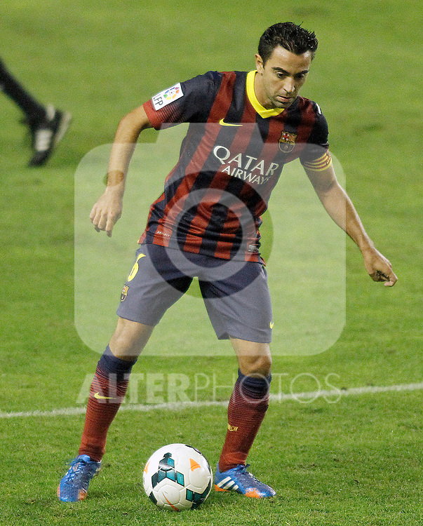 FC Barcelona's Xavi Hernandez during La Liga match.September 21,2013. (ALTERPHOTOS/Acero)