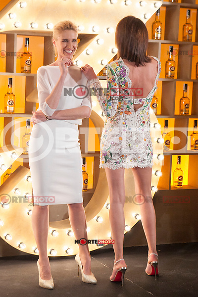 Spanish models (L-R) Judit Masco and Nieves Alvarez pose during Licor 43 presentation in Madrid, Spain. January 29, 2015. (ALTERPHOTOS/Victor Blanco) /nortephoto.com<br />