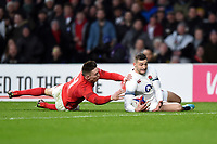 Jonny May of England scores the opening try of the match. Natwest 6 Nations match between England and Wales on February 10, 2018 at Twickenham Stadium in London, England. Photo by: Patrick Khachfe / Onside Images
