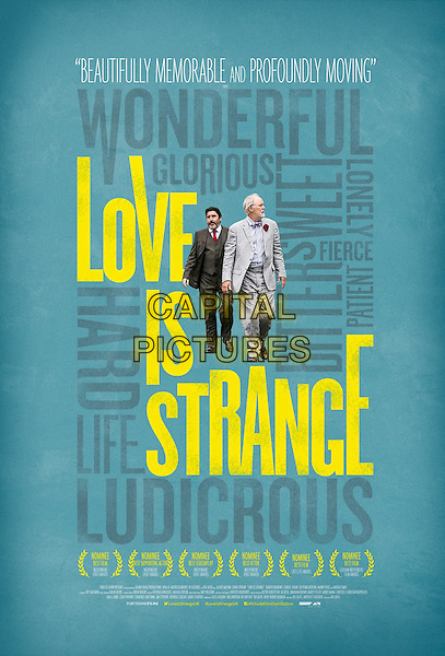 BRITISH POSTER ART<br /> in Love Is Strange (2014)<br /> *Filmstill - Editorial Use Only*<br /> CAP/FB<br /> Image supplied by Capital Pictures