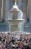 Pope Benedict XVI waves as he leaves his weekly general audience on October 15, 2009 at St Peter's square at The Vatican.