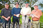 Pictured at the Lixnaw Golf Club presidents prize at O'Mahony's course, Killarney on Saturday were John Carroll, Mundy Hayes, Tim Sheehan and James O'Connor........