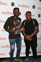"""LOS ANGELES - NOV 18:  Sheaun McKinney, Marcel Spears at the The Neighbohood Celebrates the """"Welcome to Bowling"""" Episode at Pinz Bowling Alley on November 18, 2019 in Studio City, CA"""