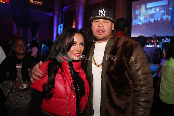 FEBRUARY 14, 2015 - NEW YORK, NY<br /> <br /> Fat Joe &amp; wife Lorena Cartagena attend the NBA Players Association Party, February 14, 2015 at CAPITALE in New York City.<br /> <br /> <br /> Walik Goshorn/MediaPunch