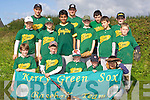 Members of the Kerry Greensox Little League Baseball team before the final of the Kingdom Cup against Cork Druids at Tralee Sports Complex on Saturday afternoon. Front l/r Andrew O'Callaghan, J.D. Lennihan, Chris Armstrong, Liam Lennihan and Marsell Fazilov. Centre l/r Thomas Phelan, Matt Clancy, Naail Riaz, Ben Clancy, Max Goreansky and Jamie Leen. Back l/r Andrew Sucaci, Stas Goreansky, Brian Ciepierski and James Kelly. ............ ............   Copyright Kerry's Eye 2008