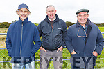Tom Lawlor (Castleisland), Joe O'Donnell (Abbeyfeale) and Noel Fitzgerald (Lixnaw) at the Kilflynn coursing meeting on Sunday.