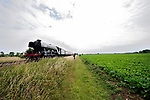 01/07/2017. Uffington, Lincolnshire. Flying Scotsman steaming through the Lincolnshire countryside. Jonathan Clarke/JPC Images