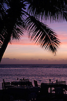 Seychelles, Island La Digue, Anse La Reunion: La Digue Island Lodge - sunset<br />