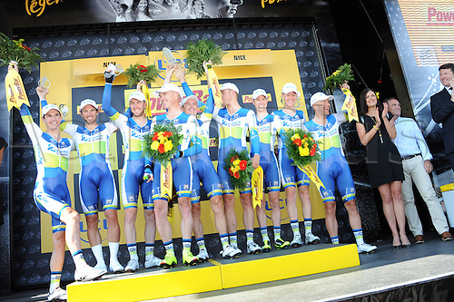 02.07.2013 Nice, France. Tour de France, Team Time Trial on stage 4 of the Tour De France from Nice. Orica - Greenedge 2013, Gerrans Simon, Nice