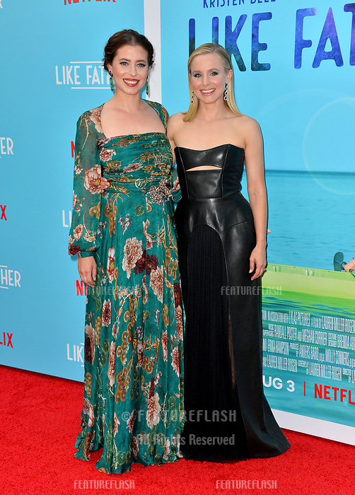Kristen Bell &amp; Lauren Miller Rogen at the Los Angeles premiere of &quot;Like Father&quot; at the Arclight Theatre, Los Angeles, USA 31 July 2018<br /> Picture: Paul Smith/Featureflash/SilverHub 0208 004 5359 sales@silverhubmedia.com