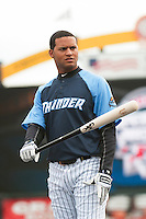 Trenton Thunder outfielder Mason Williams (9) during Media Day at ARM & HAMMER Park on April 1, 2014 in Trenton, New Jersey. (Tomasso DeRosa/Four Seam Images)