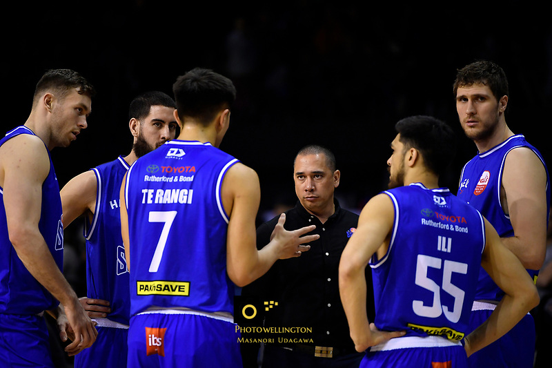 Saints' Coach Paul Henare during the NBL - Cigna Saints v Manawatu Jets at TSB Bank Arena, Wellington, New Zealand on Sunday 30 June 2019. <br /> Photo by Masanori Udagawa. <br /> www.photowellington.photoshelter.com