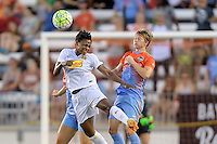 Houston, TX - Saturday July 30, 2016: Taylor Smith, Rebecca Moros during a regular season National Women's Soccer League (NWSL) match between the Houston Dash and the Western New York Flash at BBVA Compass Stadium.
