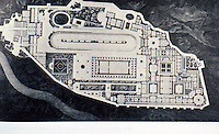 Berlin: Project for a Royal Palace on the Acropolis at Athens--site plan 1834. Architect K. F. Schinkel. Reference only.
