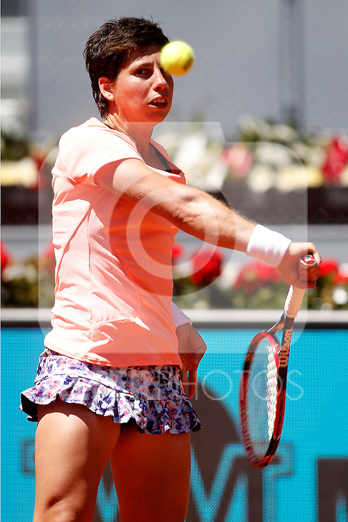 Carla Suarez Navarro, Spain, during Madrid Open Tennis 2016 match.May, 3, 2016.(ALTERPHOTOS/Acero)