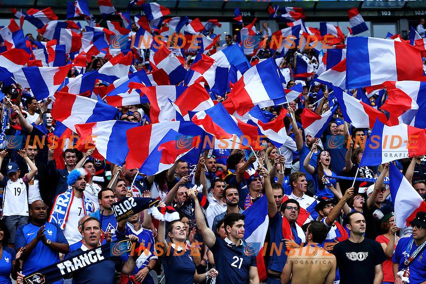 Tifosi Francia Supporters France <br /> Paris 10-06-2016 Stade de France football Euro2016 France - Romania  / Francia - Romania Group Stage Group A. Foto Matteo Ciambelli / Insidefoto