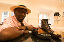 Ndjoko Defustel creator of a capsule for the Spring Summer 2017 collection of Roberto Botticelli's shoe brand, Milan June 19, 2016. © Carlo Cerchioli