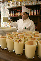 Boza drink at the Vefa Bozacisi in Istanbul, Turkey