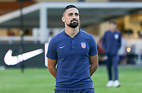 WASHINGTON D.C. - OCTOBER 11: Sebastian Lletget #17 of the United States during warm ups prior to their Nations League game versus Cuba at Audi Field, on October 11, 2019 in Washington D.C.