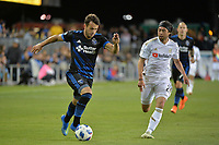 San Jose, CA - Saturday June 09, 2018: Vako, Lee Nguyen during a Major League Soccer (MLS) match between the San Jose Earthquakes and Los Angeles Football Club at Avaya Stadium.