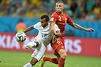 Salvador, Brazil - Tuesday, July 1, 2014: The US Men's National team was defeated 2-1 by Belgium in their knockout round match at Arena Fonte Nova.