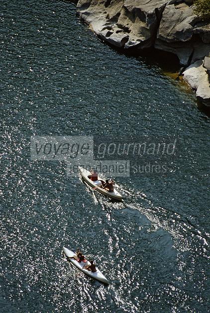 Europe/France/Rhone-Alpes/07/Ardéche /Gorges de l'Ardéche depuis le belvedere du Rang Pointu