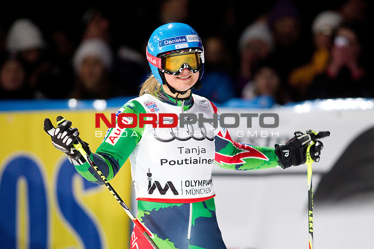 01.01.2013, Olympiapark, Muenchen, GER, Audi FIS Ski World Cup Muenchen, im Bild  Jubel bei  Tanja Poutiainen FIN / Foto © nph / Straubmeier