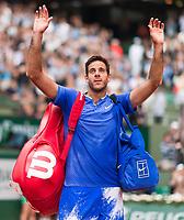 JUAN MARTIN DEL POTRO (ARG)<br /> <br /> TENNIS - FRENCH OPEN - ROLAND GARROS - ATP - WTA - ITF - GRAND SLAM - CHAMPIONSHIPS - PARIS - FRANCE - 2017  <br /> <br /> <br /> <br /> &copy; TENNIS PHOTO NETWORK