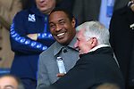 Paul Ince enjoys a joke in the crowd with a friend ahead of watching his son play - Sheffield Wednesday vs Derby County - Skybet Championship - Hillsborough - Sheffield - 06/12/2015 Pic Philip Oldham/SportImage