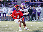 UAlbany Men's Lacrosse defeats Stony Brook on March 31 at Casey Stadium.  Wayne White (#12).
