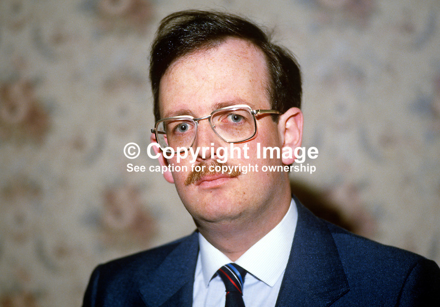 Alan J Kane, assemblyman, DUP, Democratic Unionist Party, N Ireland, 19840060AJK..Copyright Image from Victor Patterson, 54 Dorchester Park, Belfast, UK, BT9 6RJ..Tel: +44 28 9066 1296.Mob: +44 7802 353836.Voicemail +44 20 8816 7153.Skype: victorpattersonbelfast.Email: victorpatterson@me.com.Email: victorpatterson@ireland.com (back-up)..IMPORTANT: If you wish to use this image or any other of my images please go to www.victorpatterson.com and click on the Terms & Conditions. Then contact me by email or phone with the reference number(s) of the image(s) concerned.
