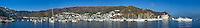 Panoramic view of Catalina Harbor, Catalina Island, California