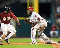 Howard, Ryan 5750.jpg Philadelphia Phillies at Houston Astros. Major League Baseball. September 6th, 2009 at Minute Maid Park in Houston, Texas. Photo by Andrew Woolley.