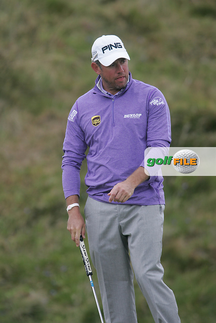 LEE WESTWOOD (ENG) on the 9th green during round 3 of the 2015 Dubai Duty Free Irish Open hosted by the Rory Foundation, Royal County Down Golf Club, Newcastle Co Down, Northern Ireland. 30/05/2015<br /> Picture TJ Caffrey, www.golffile.ie