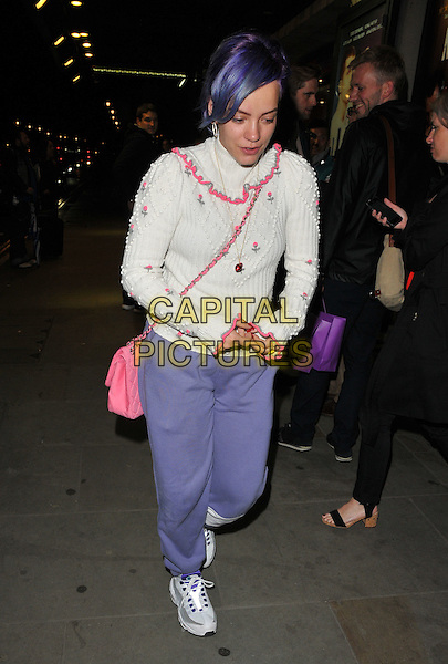 Lily Allen at the &quot;The Spoils&quot; press night, Trafalgar Studios, Whitehall, London, England, UK, on Thursday 02 June 2016.<br /> CAP/CAN<br /> &copy;CAN/Capital Pictures