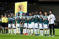 PALMIRA - COLOMBIA - 14 - 03 - 2018: Los jugadores de Deportivo Cali, durante partido entre Deportivo Cali y Once Caldas de la fecha 8 por la liga Aguila I 2018, jugado en el estadio Deportivo Cali (Palmaseca) en la ciudad de Palmira. / The players of Deportivo Cali, during a match between Deportivo Cali and Once Caldas of the 8th date for the Liga Aguila I 2018, at the Deportivo Cali (Palmaseca) stadium in Palmira city. Photo: VizzorImage  / Nelson Rios / Cont.