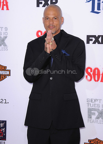 "HOLLYWOOD, CA - SEPTEMBER 6:  David Labrava at the premiere screening of FX's ""Sons of Anarchy"" at the TCL Chinese Theatre on September 6, 2014 in Hollywood, California. Credit: PGSK/MediaPunch"
