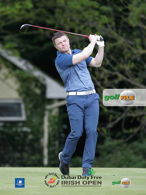 Brian O' Driscoll during Wednesday's Pro-Am ahead of the 2016 Dubai Duty Free Irish Open Hosted by The Rory Foundation which is played at the K Club Golf Resort, Straffan, Co. Kildare, Ireland. 18/05/2016. Picture Golffile | TJ Caffrey.<br /> <br /> All photo usage must display a mandatory copyright credit as: &copy; Golffile | TJ Caffrey.