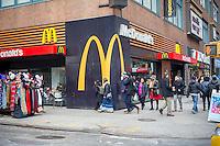 A McDonald's restaurant in Midtown Manhattan in New York on Sunday, February 5, 2017. (© Richard B. Levine)