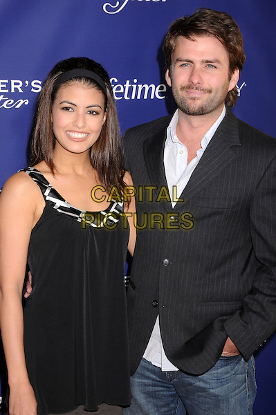 "NICOLE TUBIOLA & husband KIEREN HUTCHINSON.""The Memory Keeper's Daughter"" Los Angeles Premiere at the Cinerama Dome, Hollywood, California, USA,.8 April 2008..half length black dress jacket .CAP/ADM/BP.©Byron Purvis/Admedia/Capital PIctures"
